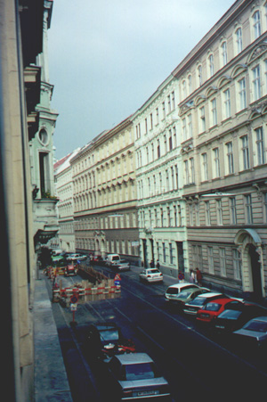 7/4/01, The view from our room in Vienna.