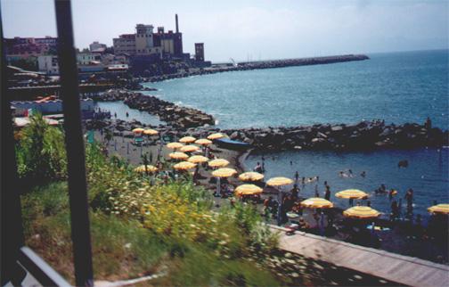 July 13, The Italian Riveria from the train.