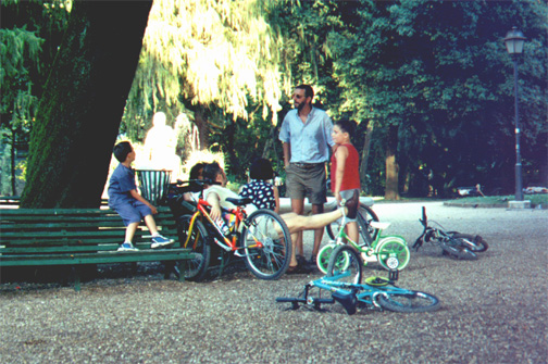 The hide-and-seek kids in Villa Borghese (a park).