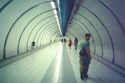 Brian Kleinman in the subway.
