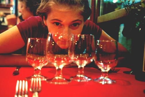 Katie Miller at dinner.