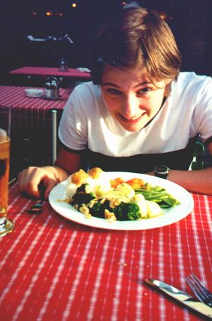 Katie Miller at dinner in Salzburg, Germany.