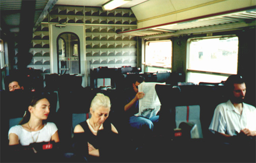 Typical uncomfortable Italian train. Oh, yeah, it was probably late too...