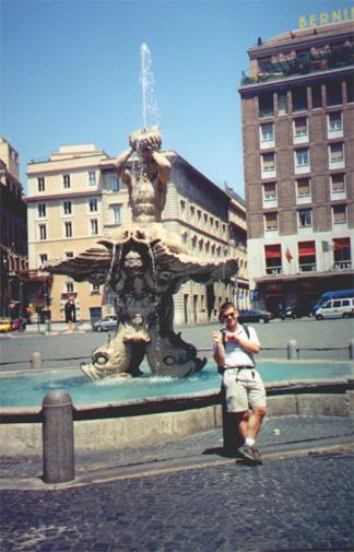 July 15, Brian Kleinman at Piazza Barberini.