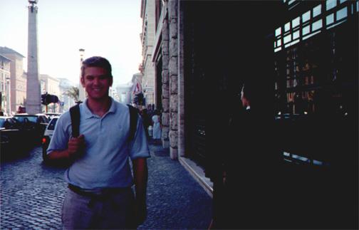 Brian Kleinman and nuns (right).