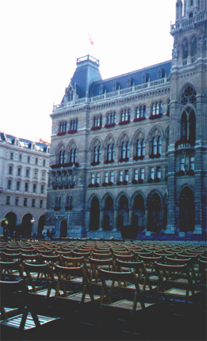 Film Festival at Rathausplatz (Town Hall Square).