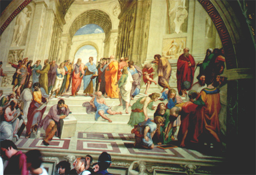 Inside the Vatican Museum - School of Athens by Raphael.