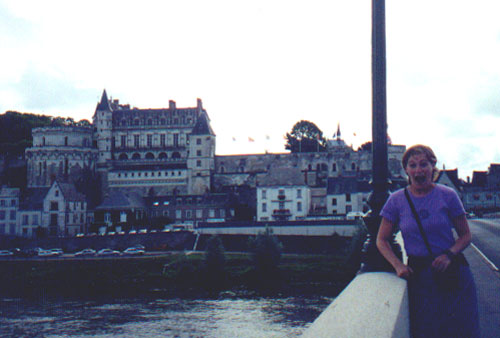 August 16, 2001: Katie Miller at Chateau Amboise