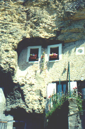 Troglodyte dwellings in Amboise