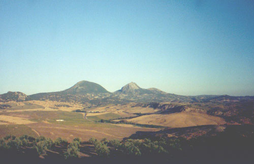 Andalucia countryside, traveling to Faro, Portugal
