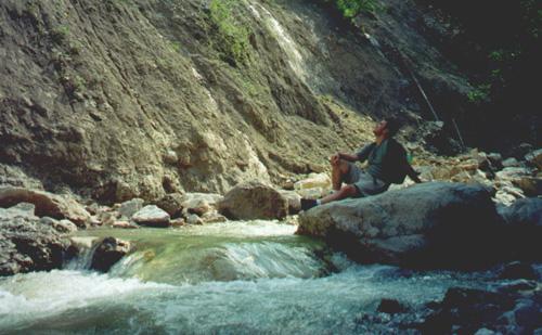 Brian Kleinman in Pöllat Gorge.