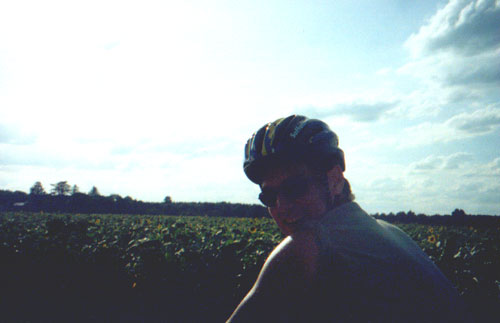 """Brian Kleinman (Katie Miller being """"biking photographer"""")"""