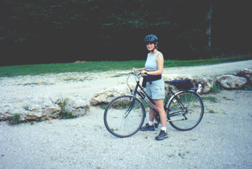 Katie Miller on the bike path to Cheverny