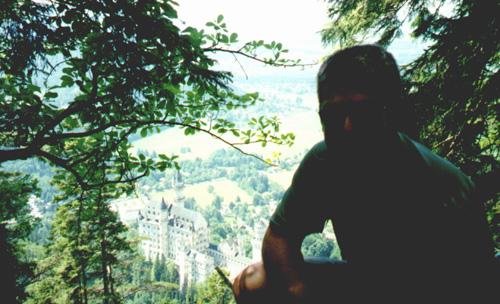 Brian Kleinman above Neuschwanstein.