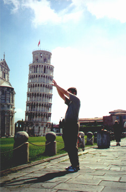 Brian Kleinman and the Pisa photo