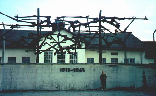 Brian Kleinman at Dachau.