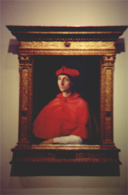El Cardenal (Portrait of a Cardinal) by Rafael Sanzio in the Museo Nacionel del Prado (1510-12)