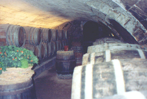 The wine cave at Chateau Chenonceau