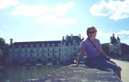 Katie Kleinman at Chateau Chenonceau
