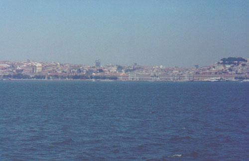 Lisbon coast and Praça do Comércio