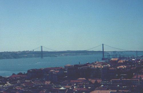 August 14, 2001: bridge named Ponte 25 de Abril (view from Castelo de São Jorge)