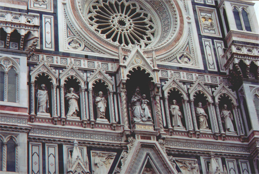 The side of the duomo