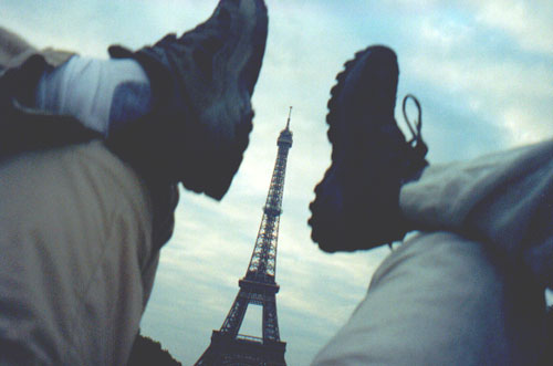 Relaxing at the Eiffel Tower