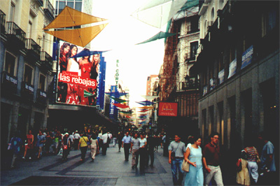 July 31, 2001: El Corte Inglés, a Spanish department store.