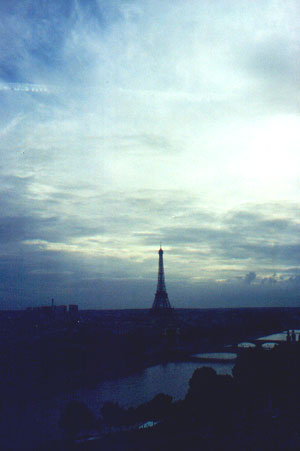 View of the Eiffel Tower from the Ferris Wheel