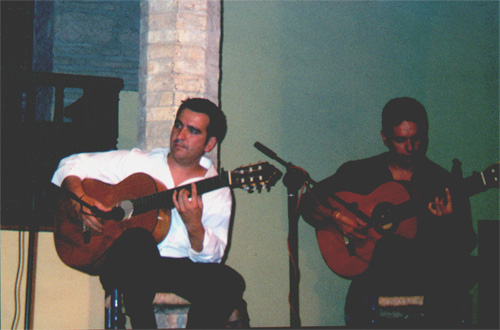 The musicians for the Flamenco show