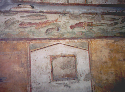 A fresco in a home.