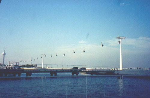 Teleférico (gondola) in Parque das Nações (Park of Nations)