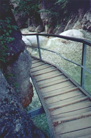The bridge in Pöllat Gorge.