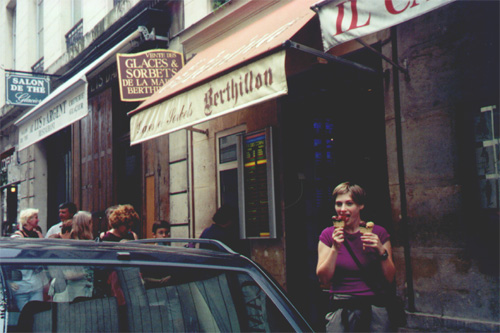Berthillon ice cream on Ile St. louis.