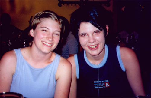 Katie Miller and Miriam Lang at the Hofbräuhaus.