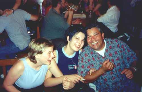 Katie Miller, Miriam Lang, and Marco Villanueva at the Hofbräuhaus.