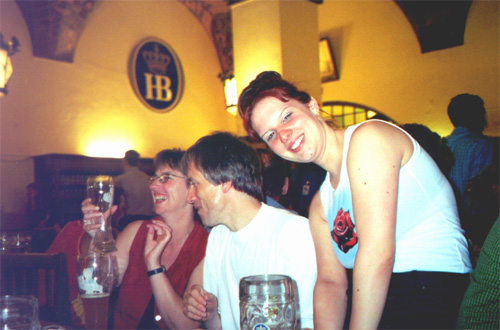 A couple from Köln and Tanja Bunkowski, Hofbräuhaus.