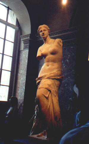 Venus di Milo in the Lourve