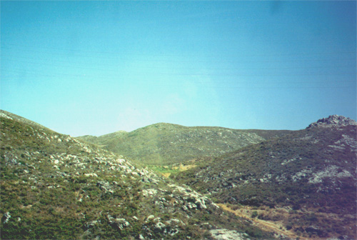 August 8, 2001: The view from the bus ride to Ronda
