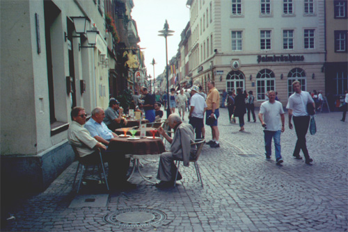 Marktplatz (notice the old guys and their ice cream sundaes)