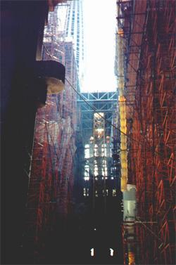 More scaffolding inside Temple de la Sagrada Familia