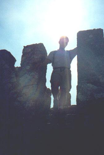 Brian Kleinman at the Ruinas do Castelo dos Mouros, Sintra, Portugal