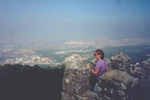 Katie Miller at the Ruinas do Castelo dos Mouros, Sintra, Portugal