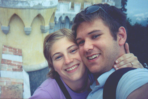 Katie Miller and Brian Kleinman at Palácio da Pena (Pena National Palace), Sintra, Portugal