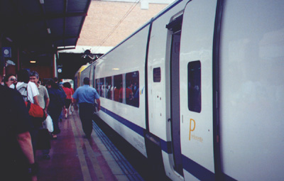 July 30, 2001: The train to Madrid