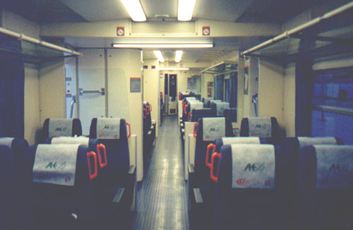August 10, 2001: Train in Spain, traveling to Faro, Portugal